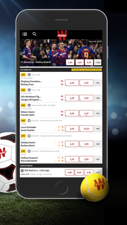 Winamax app paris en direct